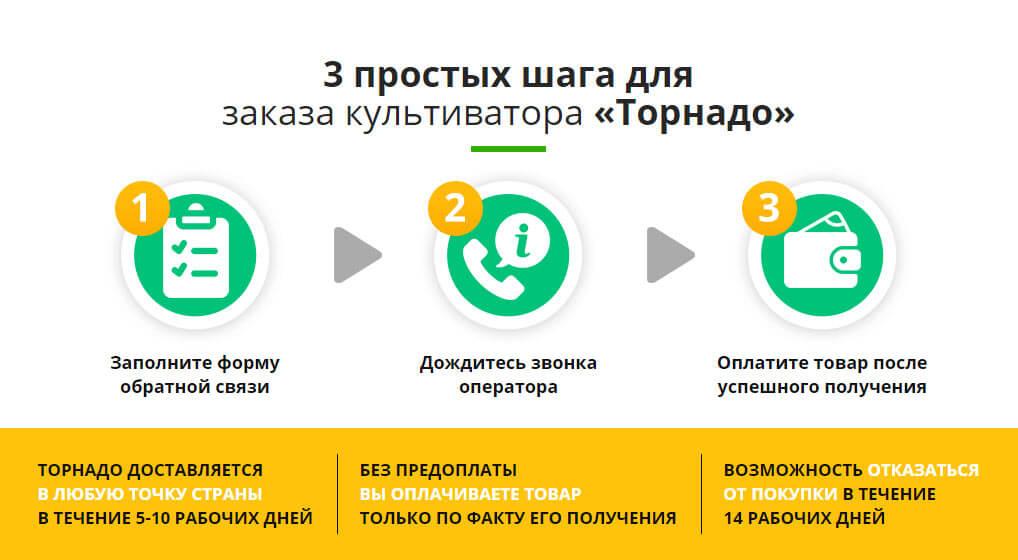 Три простых шага к покупке